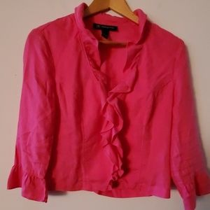 INC Pink Long Sleeve Blouse - M
